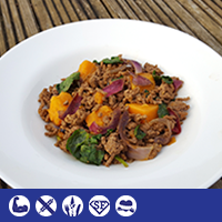 Mince, Sweet Potato and Spinach Bowl
