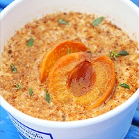 Baked Apricot, Thyme and Almond Overnight Oats