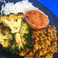 Dal, Rice and Roasted Broccoli